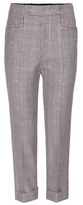 Miu Miu Cropped Check Trousers