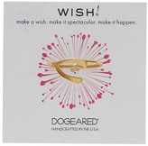 Dogeared 14K Gold Plated Sterling Silver Large Wishbone Ring