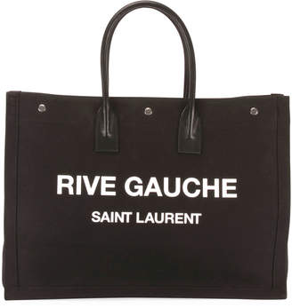 Saint Laurent Men's Rive Gauche Logo Tote Bag