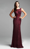 Mac Duggal Couture - 62426 Sleeveless Lace Sash Evening Gown