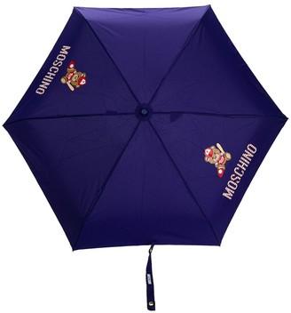 Moschino baseball-themed Teddy motif print umbrella