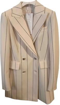 Genny Beige Wool Jacket for Women