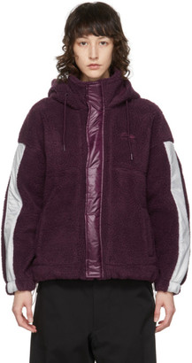 Li-Ning Purple Fleece Hooded Jacket