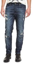 Diesel Buster 0854T Distressed Denim Jeans, Dark Blue