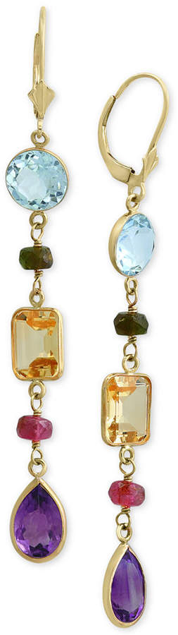 Effy Multi-Gemstone Drop Earrings (15-1/2 ct. t.w.) in 14k Gold