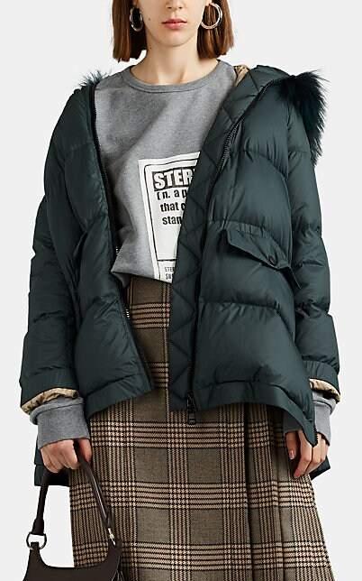 Yves Salomon Women's Fur-Trimmed Hooded Puffer Jacket