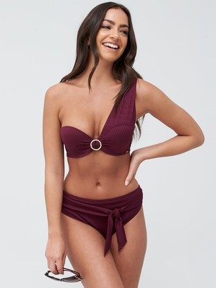 Boux Avenue Capri One Shoulder Balconette Bikini Top - Lipstick