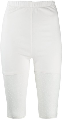 Styland Dotted Mesh Panel Cycling Shorts