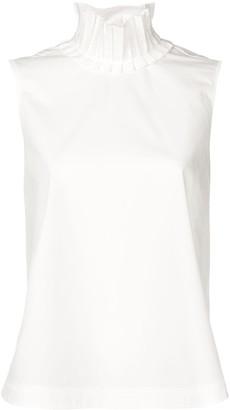 Fendi frill collar sleeveless blouse