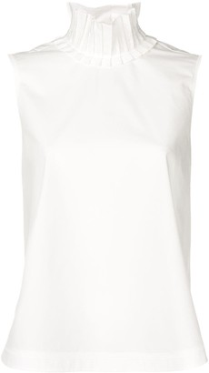 Fendi Frill Collar Sleeveless Blouse