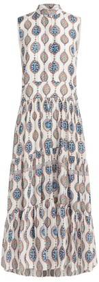 Chloé Sleeveless Printed Silk Dress