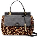 Vince Camuto Beca Genuine Calf Fur Leather Satchel