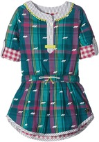 Hatley Winter Fox Bonded Plaid Dress (Toddler/Little Kids/Big Kids)