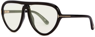 Tom Ford Arizona black D-ring sunglasses