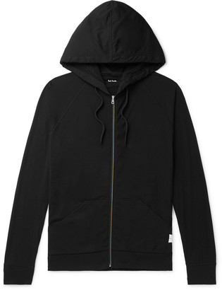 Paul Smith Stripe-Trimmed Cotton-Jersey Zip-Up Hoodie