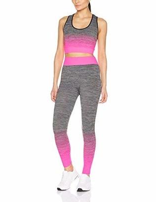 FM London Womens Sportswear set | Crop Top and Leggings Stretch-Fit Gym Wear Set