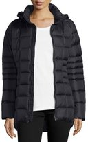 The North Face Short Hooded Down Zip-Front Jacket, Black