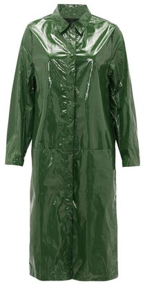Sara Lanzi Point-collar Pvc Raincoat - Green