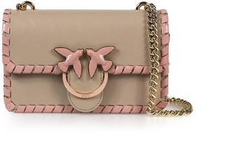 Pinko Love Mini Twist Cl Beige Pink Crossbody Bag