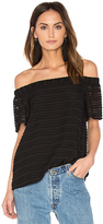 1 STATE Off Shoulder Flounce Sleeve Blouse in Black. - size S (also in )