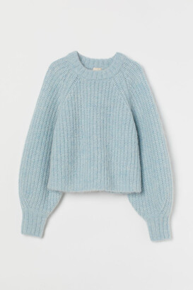 H&M Wool-blend Sweater - Turquoise