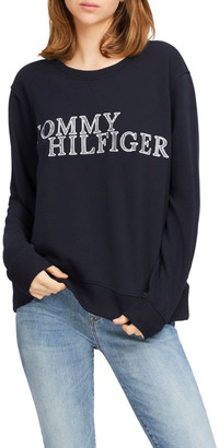 Tommy Hilfiger Christa Relaxed Crew Neck Sweatshirt Sky