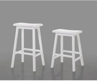 Charlton Homeâ® Hendon Bar & Counter Stool Charlton HomeA Color: White, Seat Height: Bar Stool (29a Seat Height)