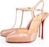 Christian Louboutin Me Pam 100 Nude Patent Leather - Women Shoes
