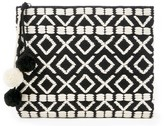 Sole Society Bronte Woven Clutch w/ Poms
