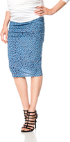 A Pea in the Pod No Belly Ruched Maternity Skirt
