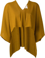 Jucca open front capelet - women - Polyester/Viscose - S