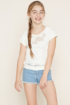 Forever 21 FOREVER 21+ Girls Crochet-Panel Top (Kids)