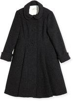Helena Wool Topper Coat, Gray, Size 7-14