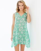 Soma Intimates Batik Sleeveless Cotton Sleep Tunic Seafoam