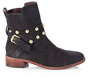 See by Chloe Women's Janis Studded Suede Ankle Boots