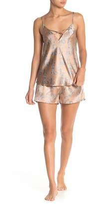 Cozy Rozy Floral Satin Pajama Set