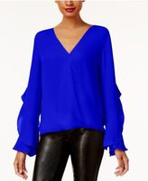 INC International Concepts Anna Sui Loves Ruffled Surplice Top, Created for Macy's