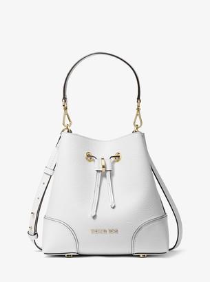MICHAEL Michael Kors Mercer Gallery Small Pebbled Leather Shoulder Bag