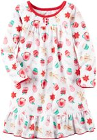 Carter's Fleece Nightgown (Toddler/Kid) - Print - 8/10