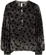 Saint Laurent Polka-dotted fil coupé blouse