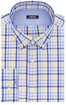 Izod Men's Slim Fit Exploded Plaid Buttondown Collar Dress Shirt