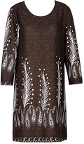 Brown Paisley Tunic - Plus Too
