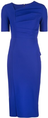 Greta Constantine Off Centre V-Neck Dress