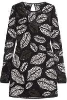 Just Cavalli Embellished Swiss-Dot Tulle Mini Dress