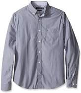 Nautica Men's Wrinkle Resistant Classic Fit Vertical Stripe Ls Dress Shirt