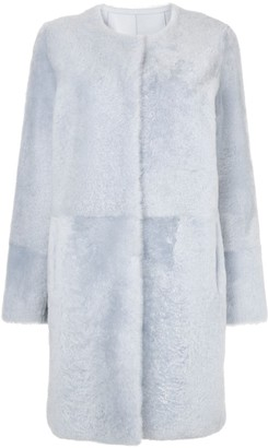 Yves Salomon Collarless Coat