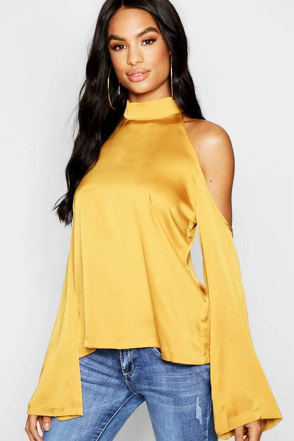 52b41bab37e098 boohoo Cold Shoulder Tops For Women - ShopStyle UK