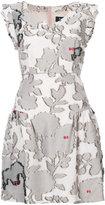 Paule Ka floral pattern mini dress - women - Cotton/Polyamide/Polyester/Cupro - 38