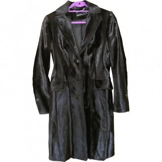 Karen Millen Black Velvet Coat for Women