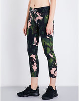 The Upside Crystal Camo stretch-jersey leggings
